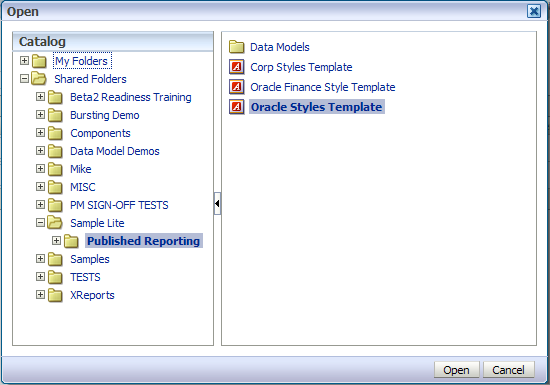 Style Templates im Server 2 1 3