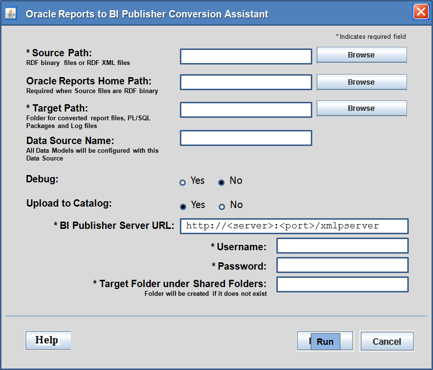 Oracle BI Publisher Conversion Assistant Oracle Reports to BI Publisher Conversion Assistant