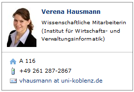 Neue Ansprechpartner Internationalisation Team FB4 Prof. Dr.