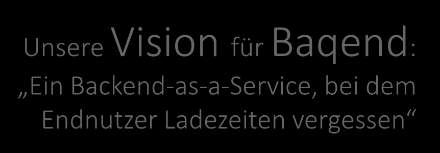 Backend-as-a-Service, bei