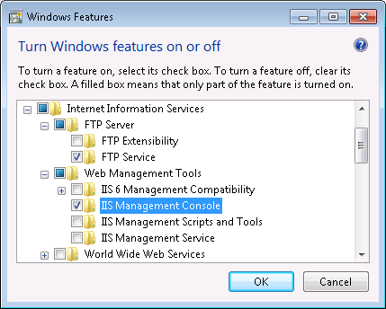 FTP Server under Windows 7 Section 2 Freelance Installation FTP Server under Windows 7 FTP Server Installation. FTP Server Win7 Windows Features.