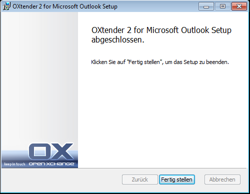 Installation des Connector für Microsoft Outlook