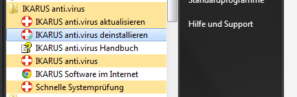 2 DIE INSTALLATION VON IKARUS ANTI.VIRUS a log file will be generated in the current directory.
