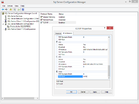 2.4 MS-SQL-Server Configuration Manager Einstellungen mit