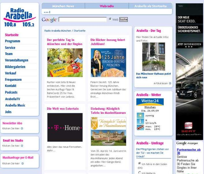 Banner formats (IAB) Examples (I) Medium Rectangle (300x250) CTR 0,2 %* Wide Skyscraper (160x600) CTR 0,2% * ADTECH: