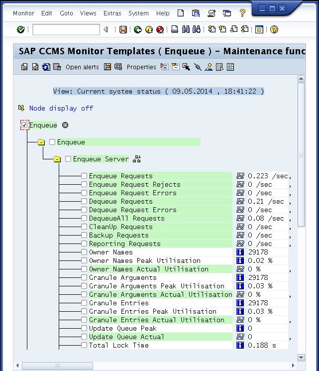 "Nochmal, aber ohne hässliche Backslashes MT_CLASS_PERFORMANCE $ check_sap_health --mode ccms-mte-check \ --name ""SAP CCMS Monitor Templates"" \ --name2 ""Enqueue"" \"