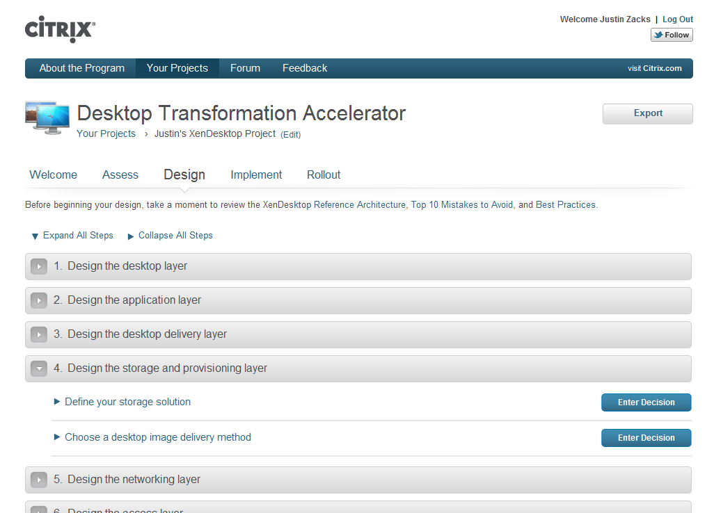 Desktop Transformation Accelerator Free, customized, step-by-step implementation guidance online Guided