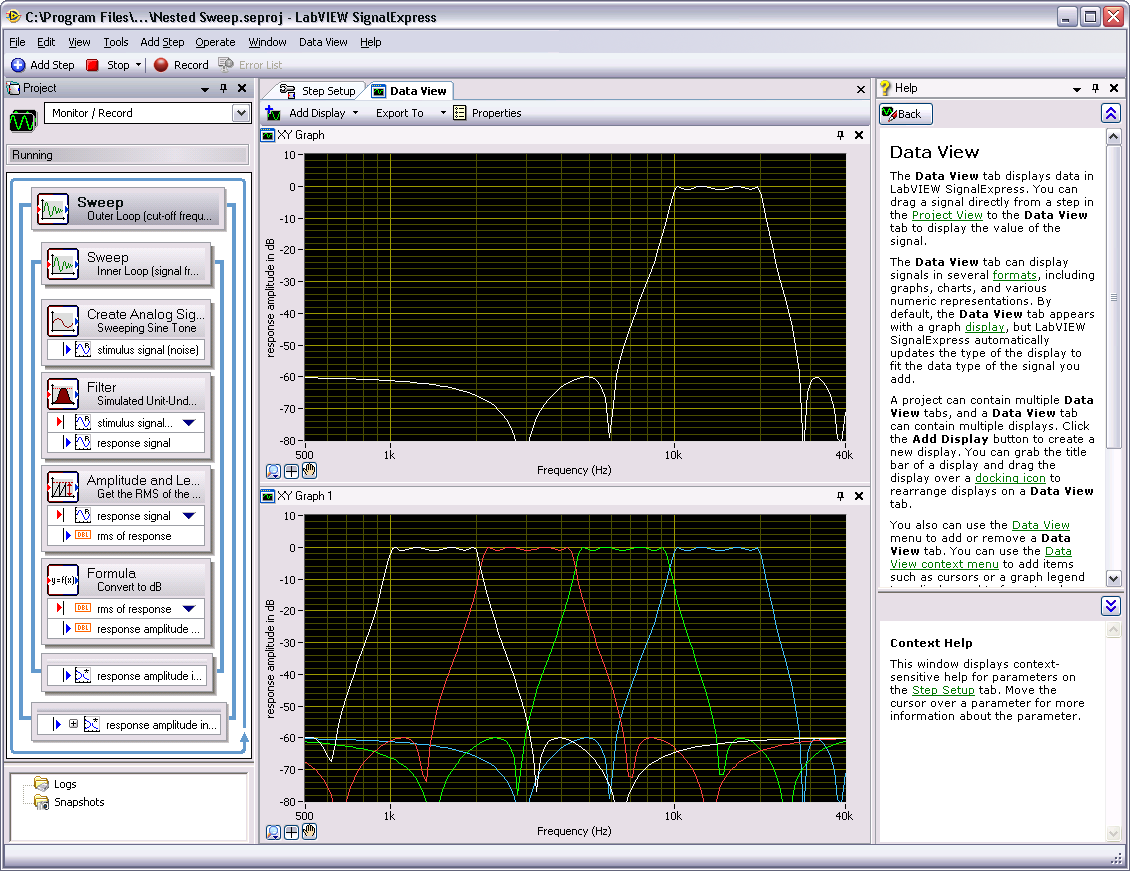 Chapter 5 Performing Sweep Measurements Complete the following steps to run a sample nested sweep project. 1.