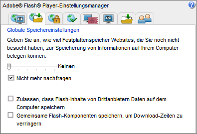 4.4. EVERCOOKIES 71 Abbildung 4.10: Einstellungsmanager für Adobe Flash-Player 4.4 EverCookies 80% der Internetnutzer lehnen das Tracking ihres Surfverhaltens ab.