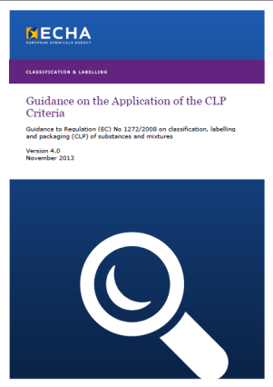Wegleitungen / FAQ zur CLPV ECHA Guidance (1-3): (1) Einführende Leitlinien http://echa.europa.eu/documents/10162/17225/clp_introductory_de.