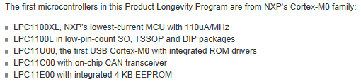NXP: Introduces Longevity Program for ARM Cortex-M Microcontrollers