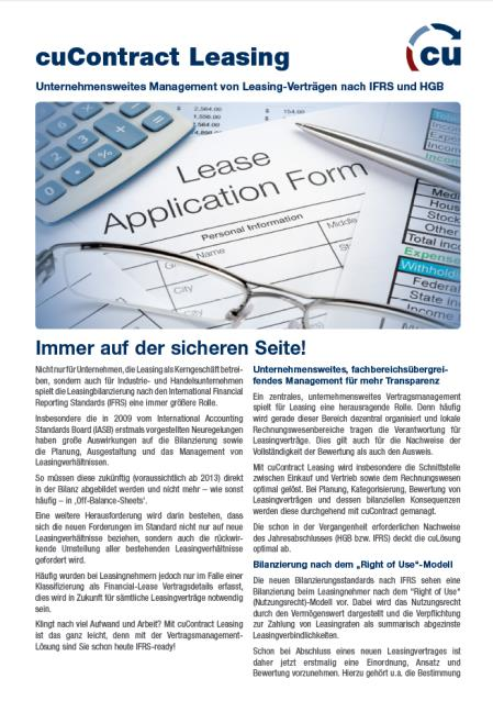 Enterprise Contract Management mit cucontract in