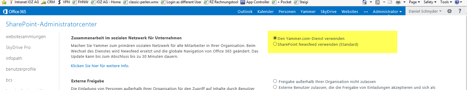 YAMMER IN OFFICE 365