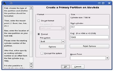 - Choose a volume to create the new partition. - You will be asked which type of partition you want to create. It is recommended to use Primary Partition.