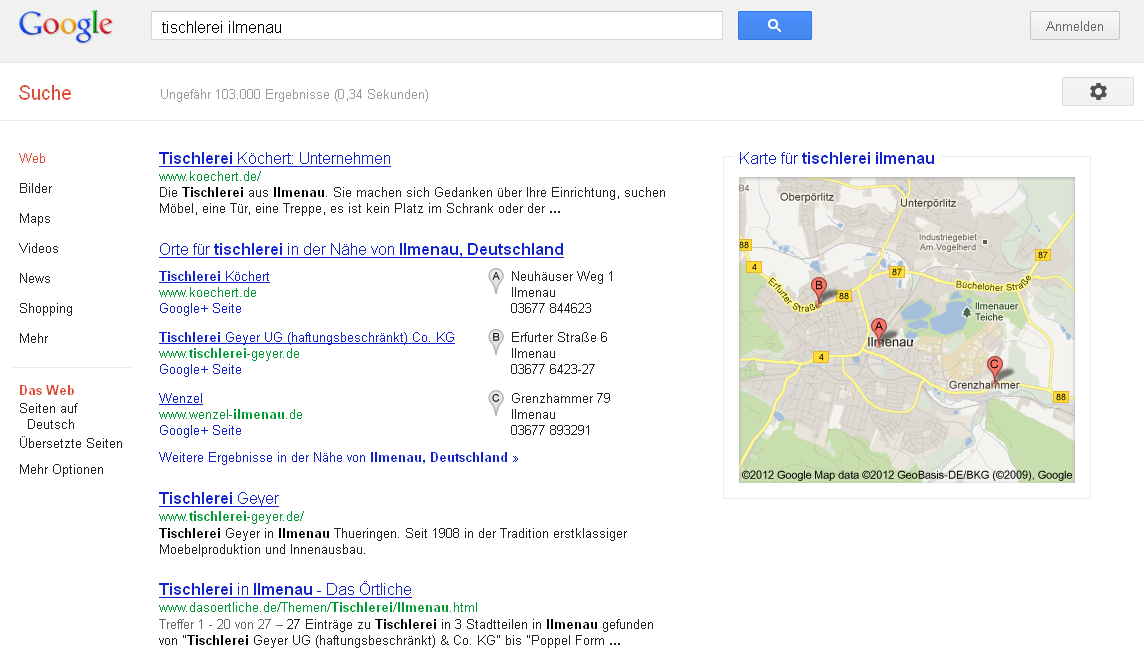 optional: Lokale Suchmaschinenoptimierung mit Google Places 3.