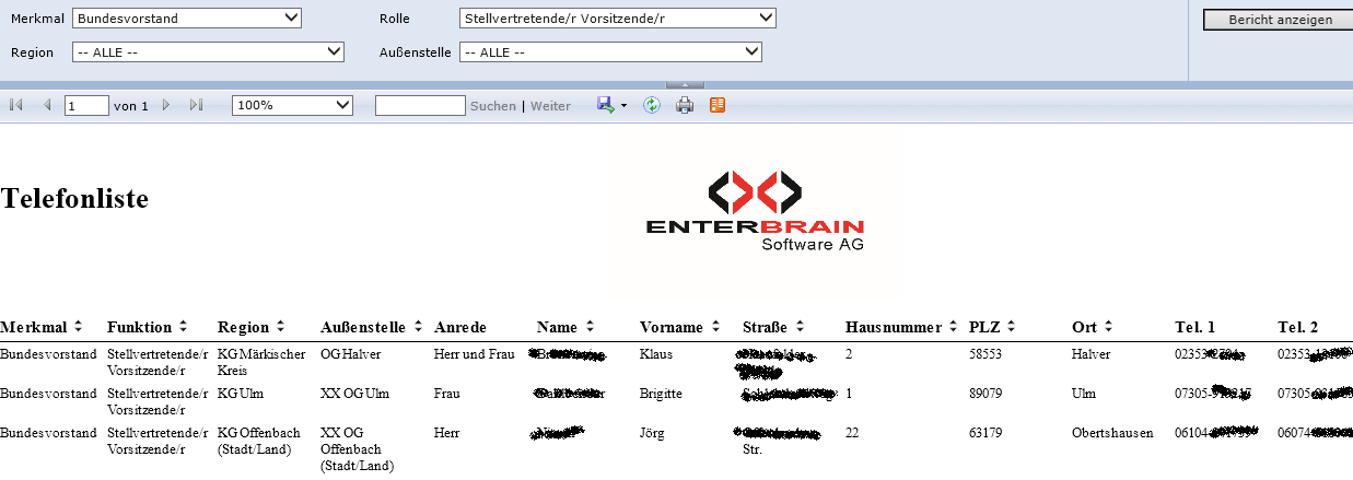 ENTERBRAIN Reporting & Business Intelligence