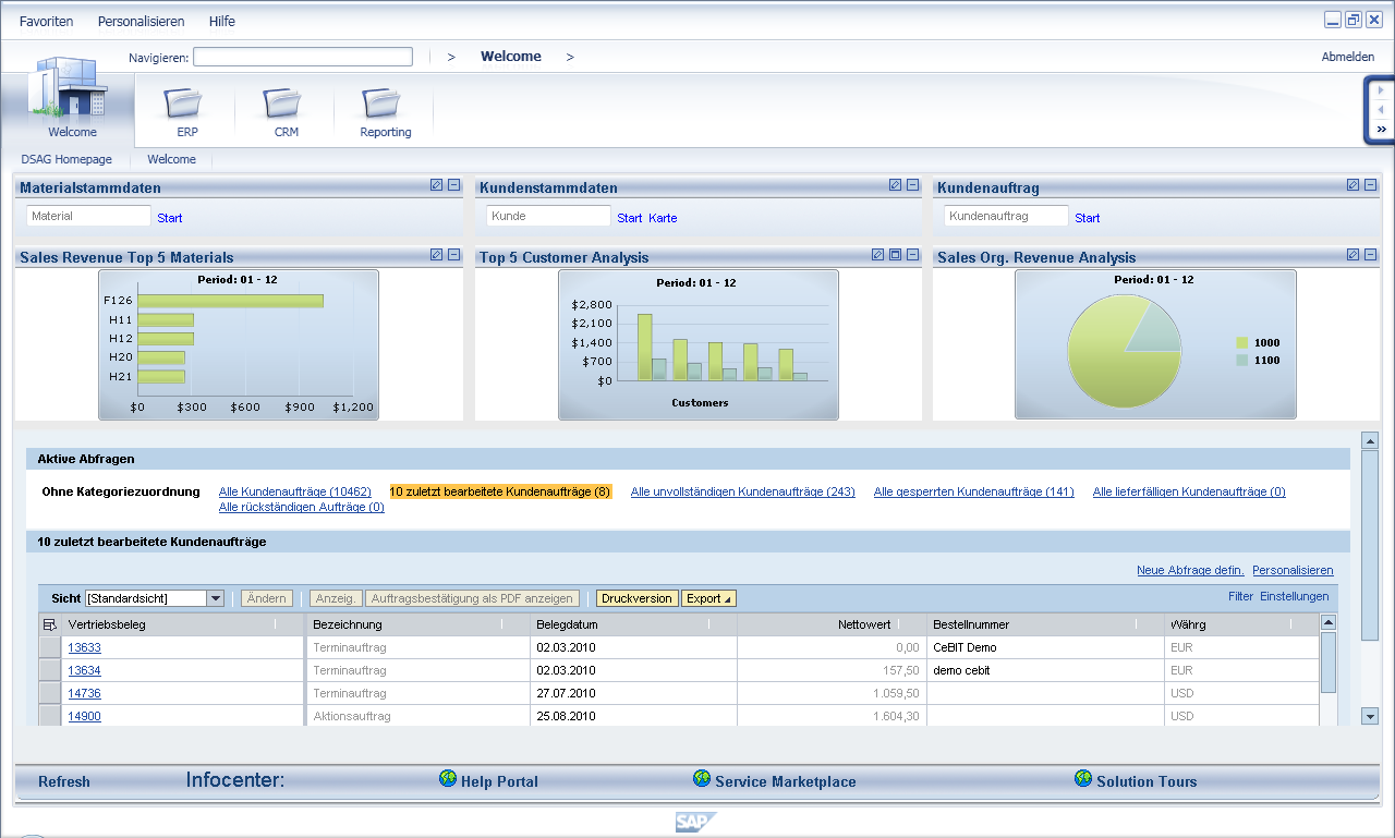 SAP NetWeaver Business Client look &