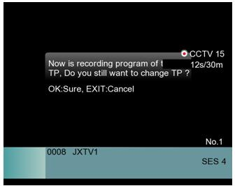 3. You can change the channel, as long as it is on the same transponder while recording.