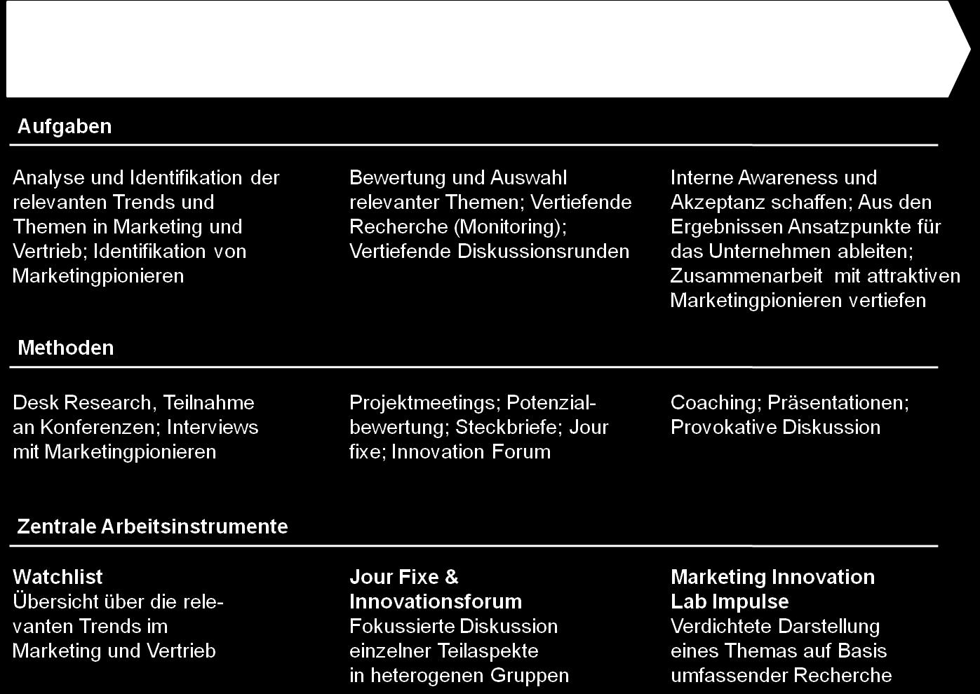 237 Abbildung 24: Der dreiphasige Prozess des Marketing Innovation Lab der BMW Group Marketing (in Anlehnung an Schögel et al.