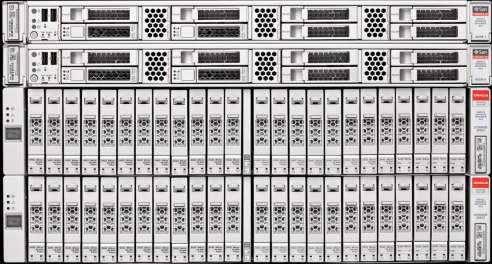 Oracle Database Appliance X3-2 Storage Expansion Shelf Double Available Storage Capacity Support for Additional 1 x 2RU Storage Expansion Shelf Direct-Attached 4 x