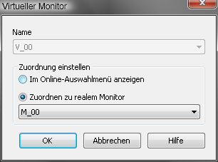 5.2.1 Projektierung Monitore Name Name das Monitors Position Be