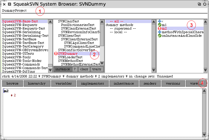 Figure 20: The SVNSystemBrowser automatically.