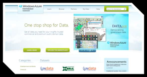 Windows Azure Marketplace http://www.microsoft.