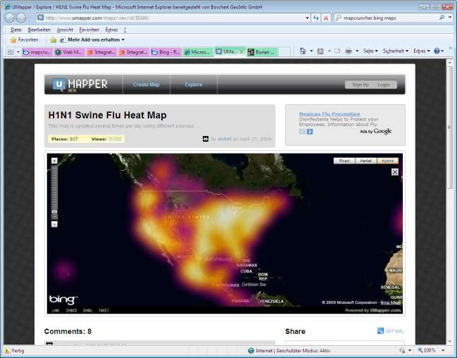 Epidemiologie: Heat Map der