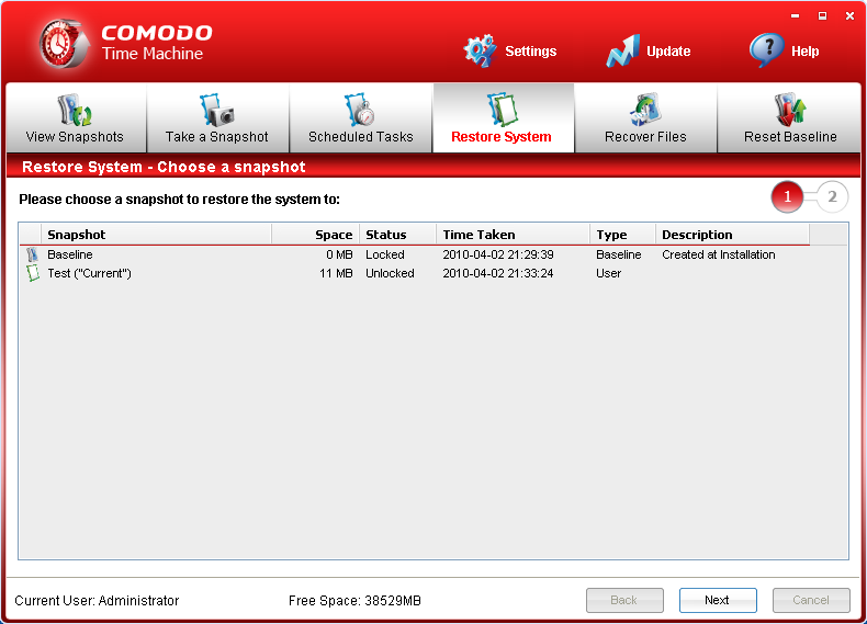 3.2 Comodo Time Machine Produktseite: http://www.comodo.com/home/data-storage-encryption/data-recovery.