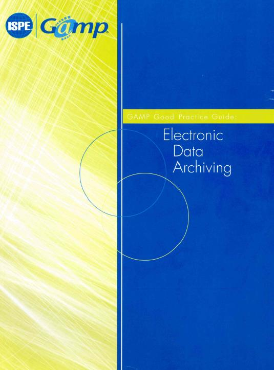 Rahmen für elektronische Daten und Archive in Pharma F&E ISBN: 1-931879-52-4 8. ARCHIVING ELECTRONIC RECORDS 8.1 Decision to Retain Records Electronically 8.