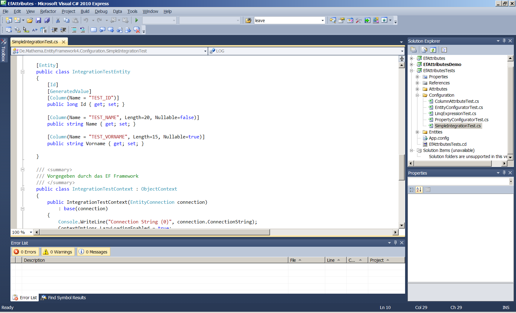Integrated Development Environment Visual Studio 2010 Express http://www.microsoft.