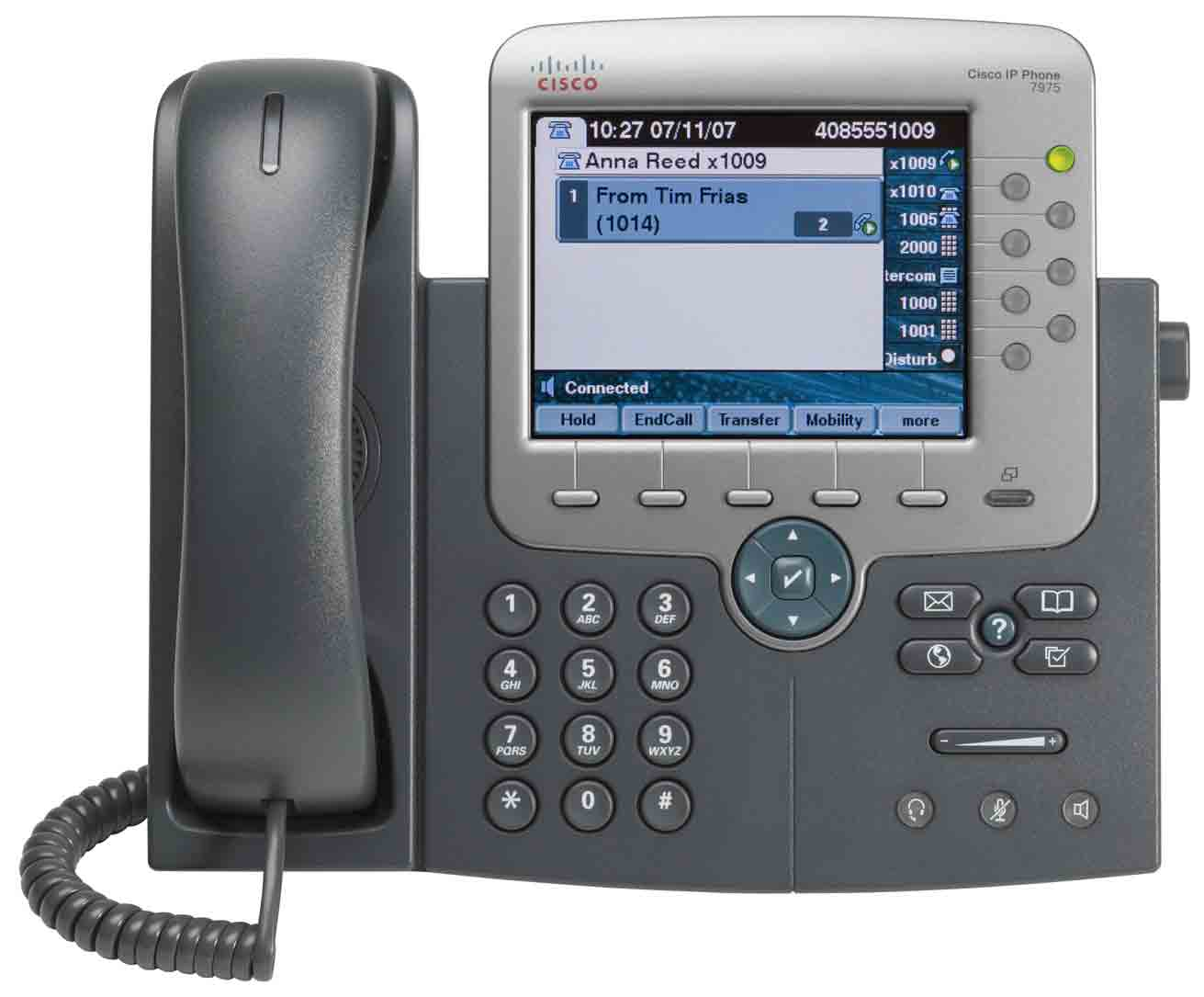Cisco Unified IP-Telefon 7975G 17 1 2 16 3 4 5