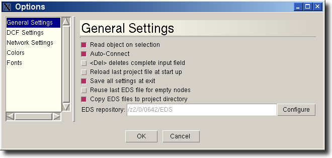 6. 6.1. Read object on selection Auto-Connect <Del> deletes complete entry field Reload last project file at start up.