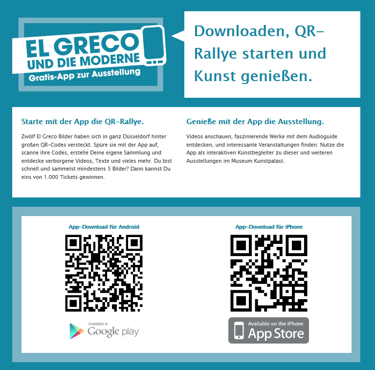 Strategie QR-Code Ralley durch Düsseldorf App
