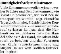 PRESSEBELEG 1 Tages-Anzeiger,