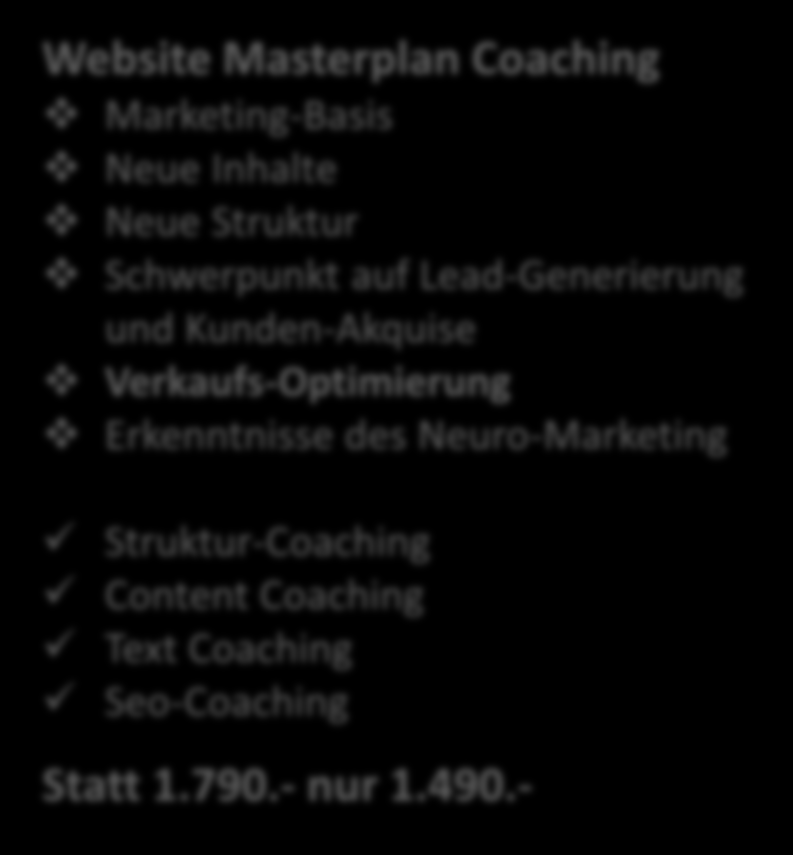 Akquise-Website Coaching nur 1.490.