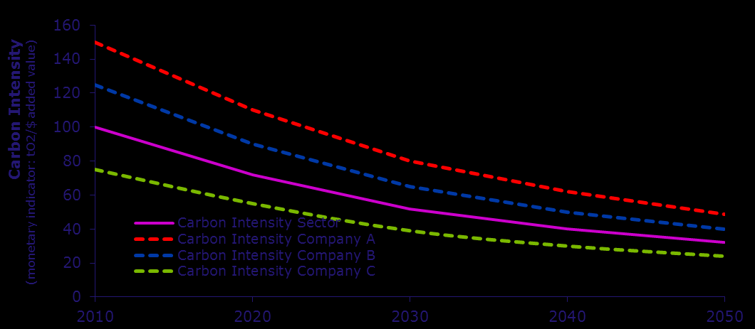Sectoral decarbonisation approach (SDA) Scope 1 target compression & convergence Homogenous Heterogenous The methodology assumes that the carbon intensity for the companies in all homogeneous sectors