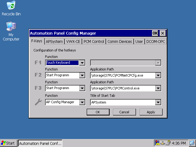 2 Config Manager The Manager is called up via the sequence Start Programs AP Config Manager.