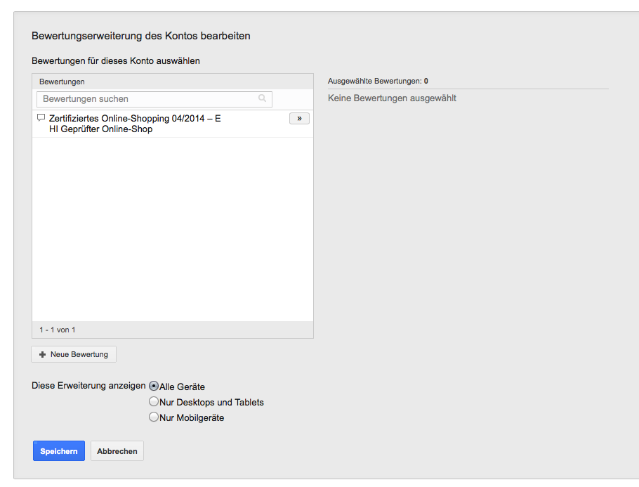 Nutzung der Review Extension 8.