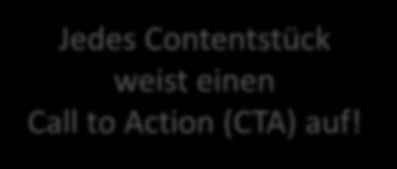 Call to Action Jedes Contentstück