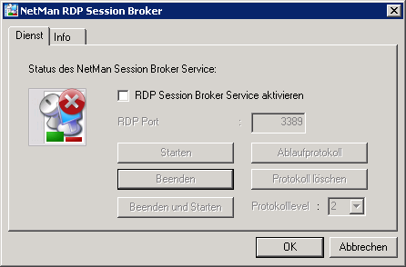NetMan Desktop Manager Version 4.5 RDP Session Broker konfigurieren Bevor Sie den Session Broker verwenden können, müssen Sie die Funktion konfigurieren und aktivieren.