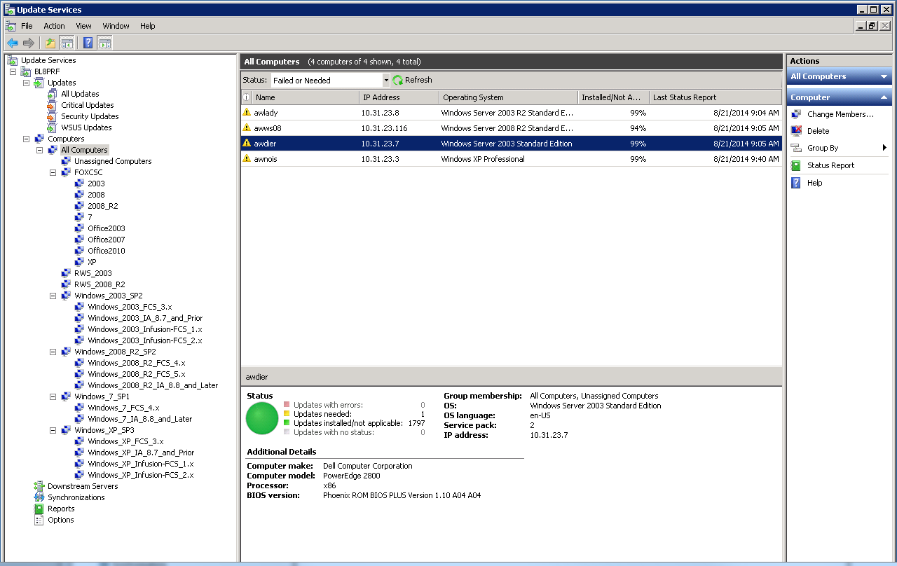 WSUS mit Remote Watch Server