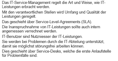 Service Level Agreement: