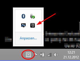Abbildung 12 - Installationsstatus Abbildung 13 - Citrix Receiver Icon in der Taskleiste Wenn der Citrix