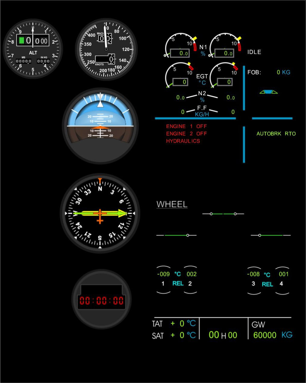 Configuration of A320 ECAM You can start the program with a double click on the