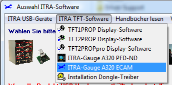 TFT Panel Software Please start the installation of the ECAM display software from the CD on your display PC.