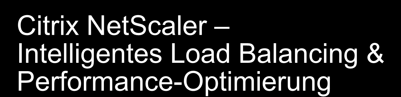 Citrix NetScaler Intelligentes Load