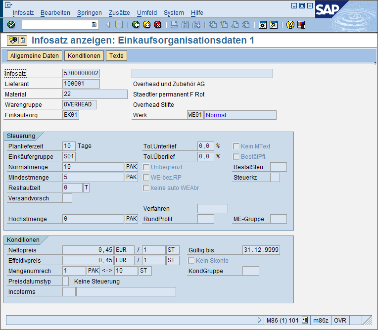 Konditionen in SAP ECC 6.
