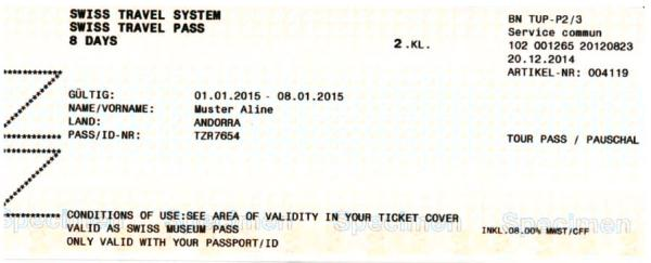 6.2.001 Swiss Travel Pass Net / Swiss