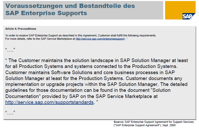 Der SAP Solution Manager und SAP SAP Solution Manager targets both technical and business aspects of your solutions, focusing strongly on core